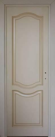 Porte in legno massello da interno laccata patinata - Porte laccate avorio ...